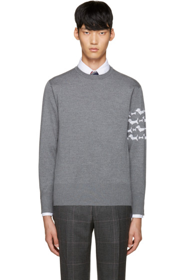 Thom Browne - Grey Hector Arm Band Pullover