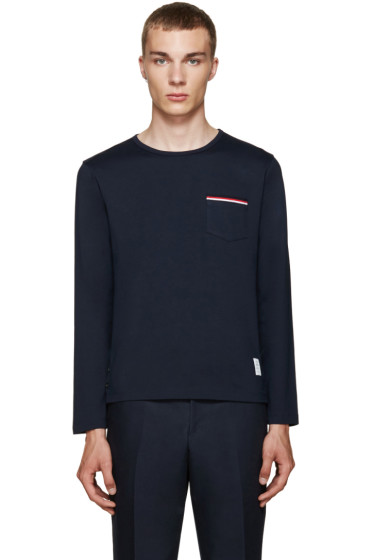 Thom Browne - Navy Pocket T-Shirt