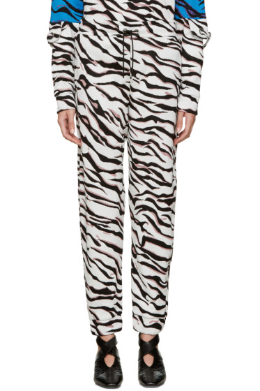 Kenzo - White Tiger Stripe Lounge Pants