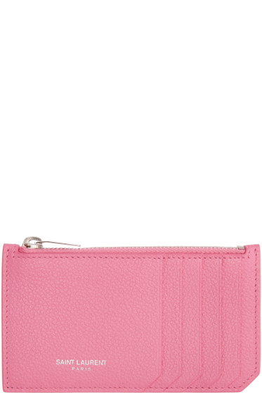 Saint Laurent - Pink Fragments Card Holder