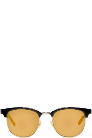 Saint Laurent - Black & Gold SL 108 Surf Sunglasses