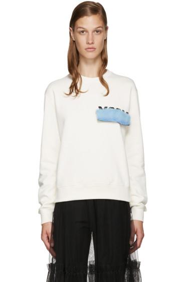 MSGM - Ivory Mink Patch Sweatshirt
