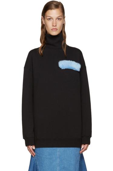 MSGM - Black Mink Patch Sweatshirt