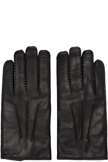 Valentino - Black Leather Gloves