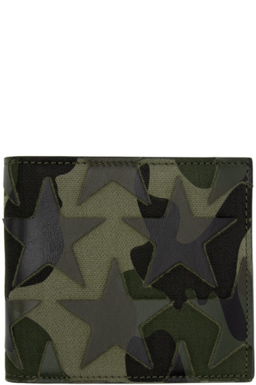 Valentino - Green Camouflage Stars Bifold Wallet