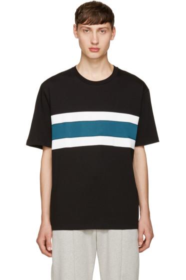 AMI Alexandre Mattiussi - Black Panelled Stripe T-Shirt