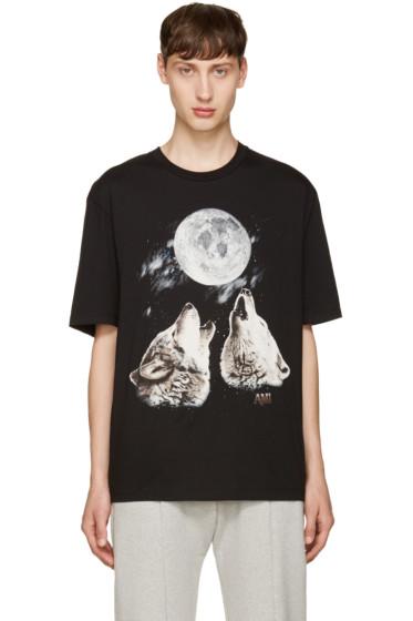 AMI Alexandre Mattiussi - Black Wolf T-Shirt