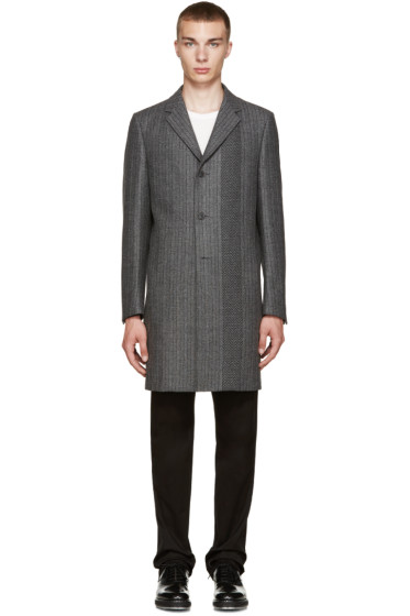 Calvin Klein Collection - Grey Wool Munich Coat