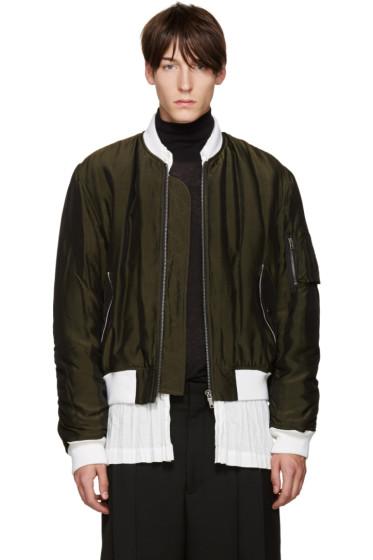 Haider Ackermann - Green Padded Bomber Jacket