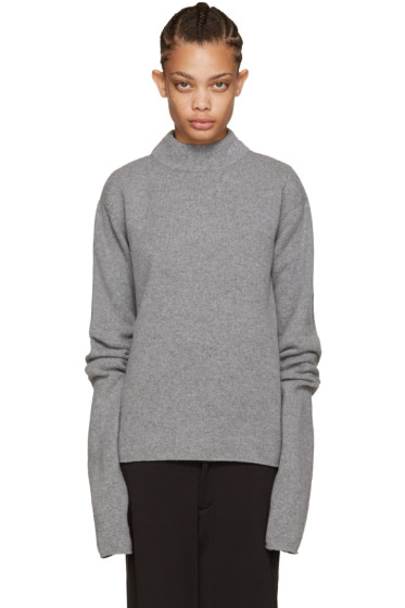Hood by Air - Grey Logo Turtleneck