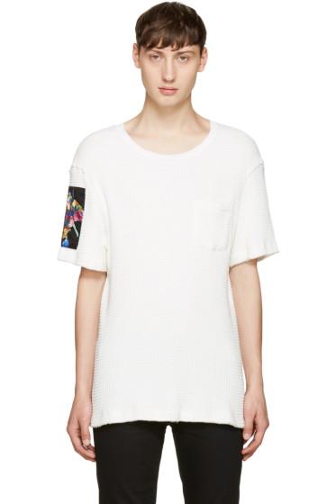 Christian Dada - White Flower Patch T-Shirt