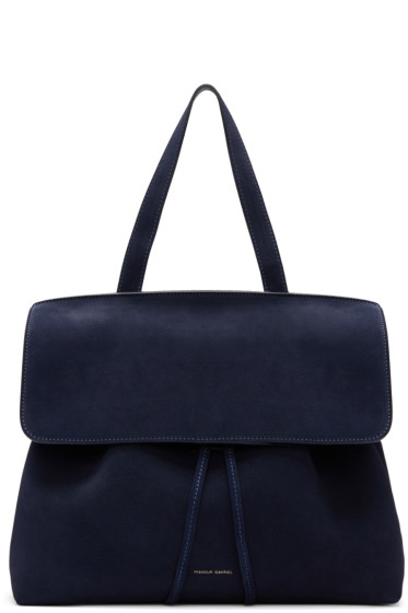 Mansur Gavriel - Navy Suede Lady Bag