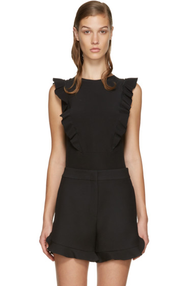 Fendi - Black Silk Ruffled Top