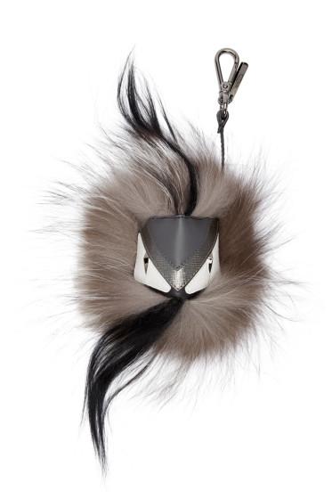 Fendi - Grey Monster Charm Keychain