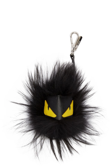 Fendi - Black Monster Charm Keychain
