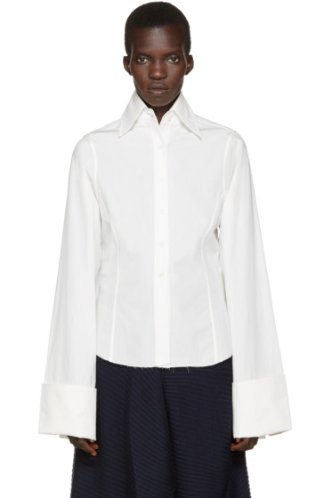 Marques Almeida - White Oversized Cuffs Shirt