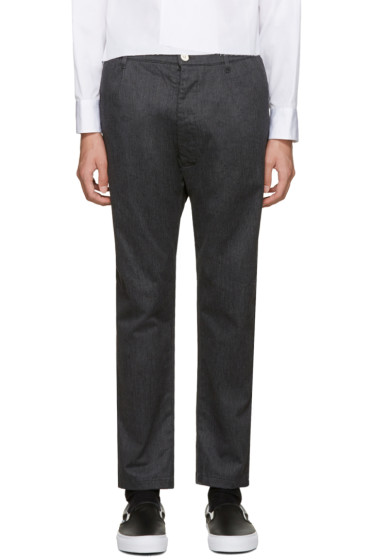 Sunnei - Grey Flannel Classic Trousers
