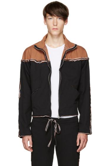 Telfar - Black Layered Zip-Up Sweater