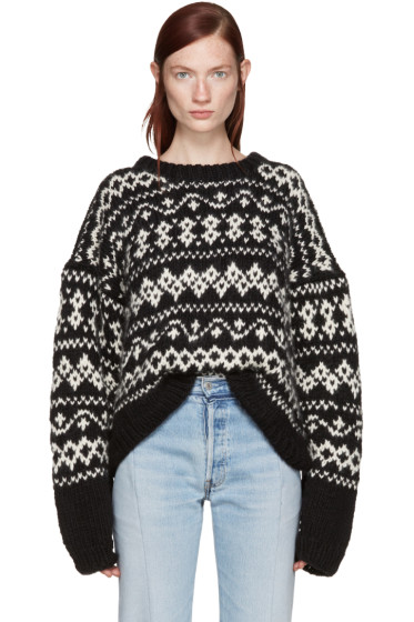 Wendelborn - Black Surreal Fair Isle Sweater