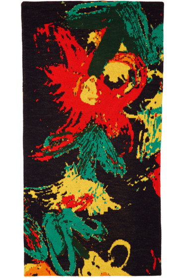 Writtenby - Multicolor Floral Knit Scarf