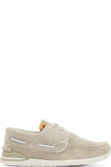 Visvim - Grey Suede Hockney Folk Shoes