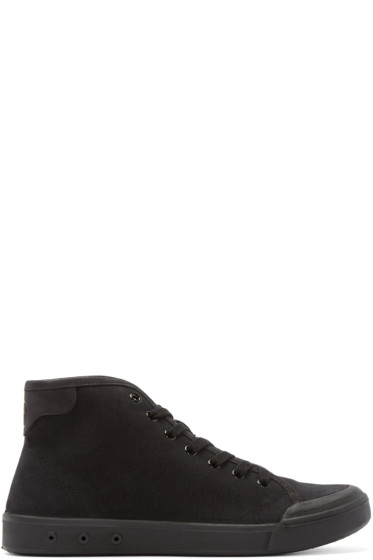 Rag & Bone - Black Standard Issue High-Top Sneakers