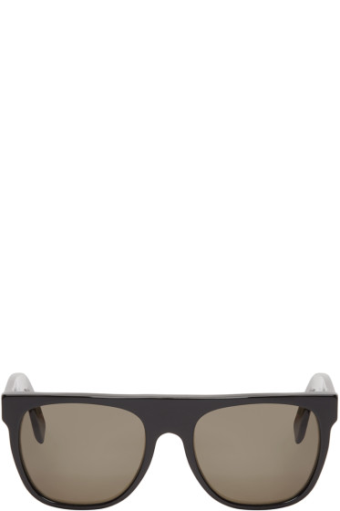 Super - Black Flat Top Sunglasses