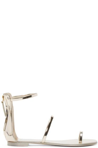 Giuseppe Zanotti - Silver Gladiator Sandals