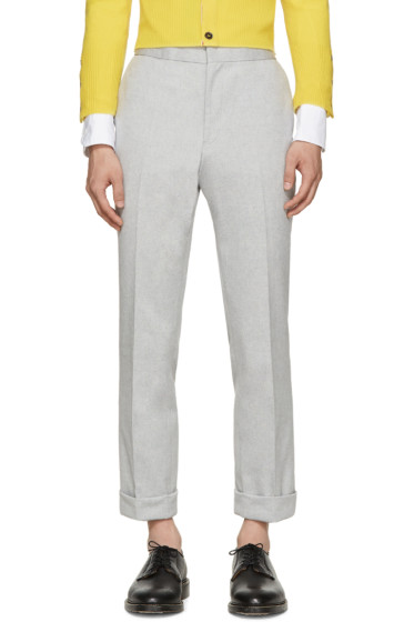 Thom Browne - Grey Mélange Oxford Trousers