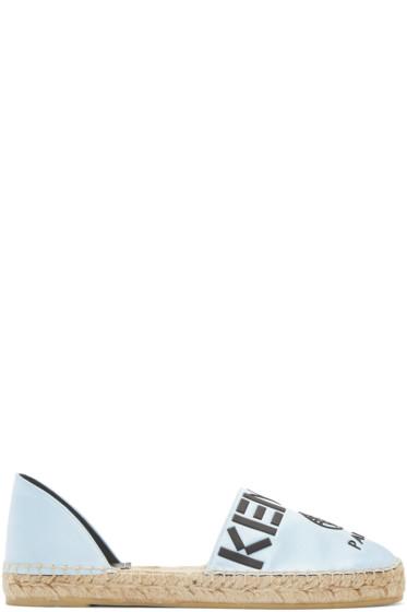 Kenzo - Blue Logo Cut-Out Espadrilles