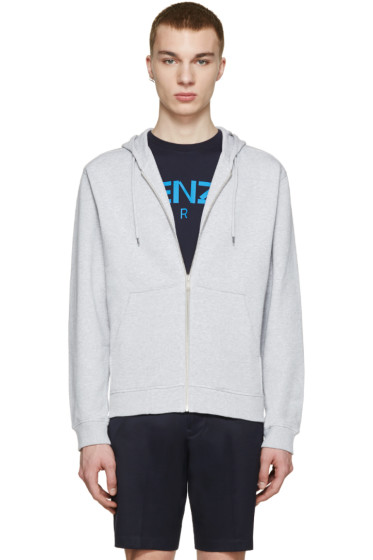 Kenzo - Grey Embroidered Tiger Hoodie