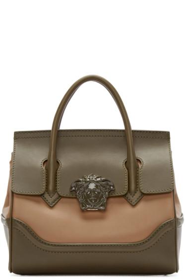 Versace - Green & Tan Medium Palazzo Bag