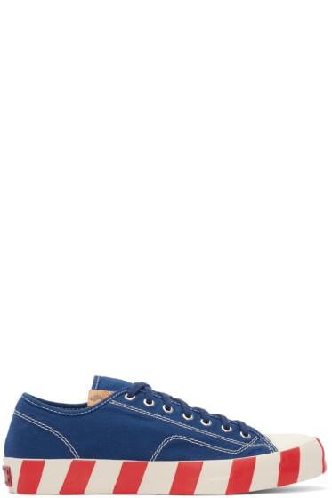 Visvim - Blue Skagway Lo Stripes Sneakers