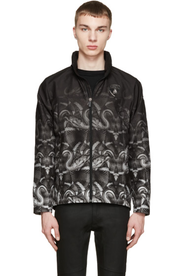 Marcelo Burlon County of Milan - Black & Green Lamborghini Snake Jacket