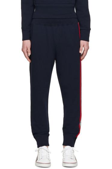 Moncler Gamme Bleu - Navy Tricolor Trim Lounge Pants