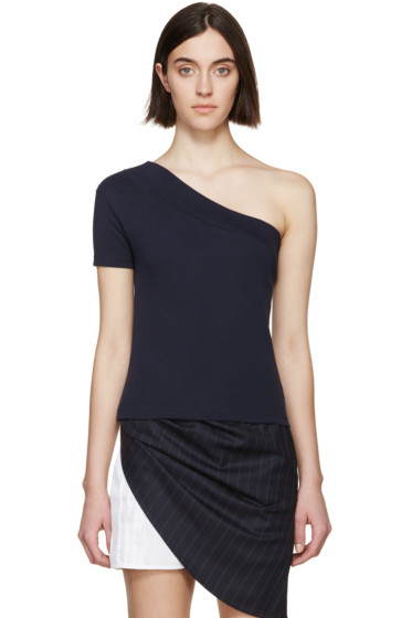 Jacquemus - Navy Single Sleeve T-Shirt
