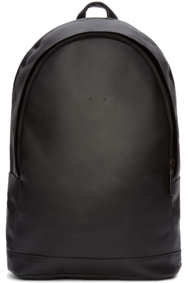 PB 0110 - Black Leather Backpack