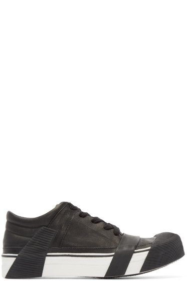 Boris Bidjan Saberi - Black Leather Bamba 3 Sneakers