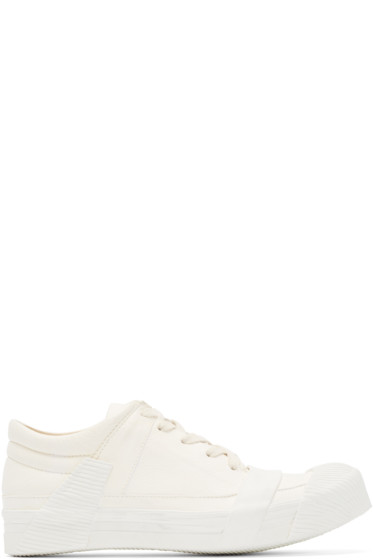 Boris Bidjan Saberi - Cream Leather Bamba 3 Sneakers