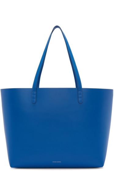Mansur Gavriel - Blue Leather Large Tote