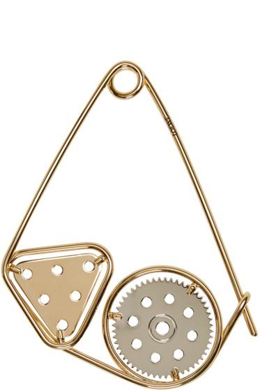 Loewe - Gold Meccano Double Brooch