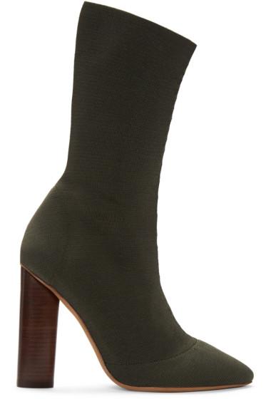YEEZY Season 2 - Green Knit Low Boots