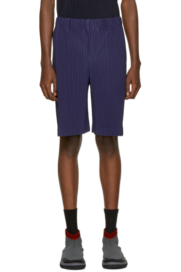 Homme Plissé Issey Miyake - Blue Pleated Shorts