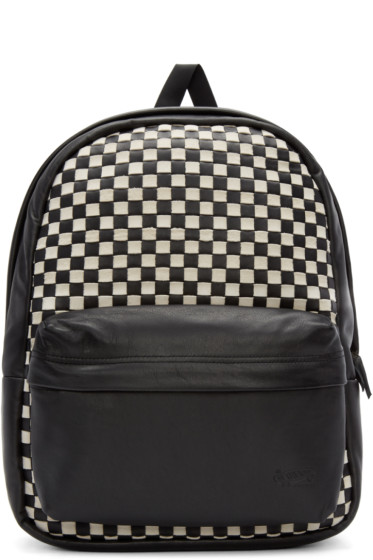 Vans - Black & White Basket-Weave Backpack