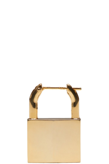 Lauren Klassen - Gold Padlock Single Earring