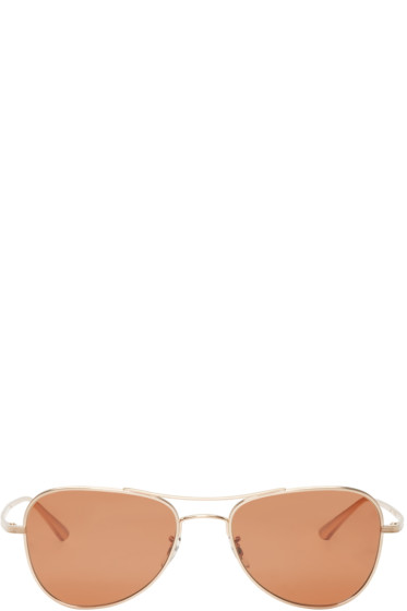 Oliver Peoples The Row - Gold Executive Suite Sunglasses