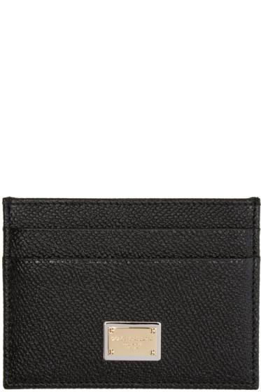 Dolce & Gabbana - Black Leather Card Holder
