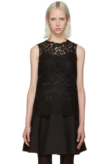 Dolce & Gabbana - Black Lace Tank Top
