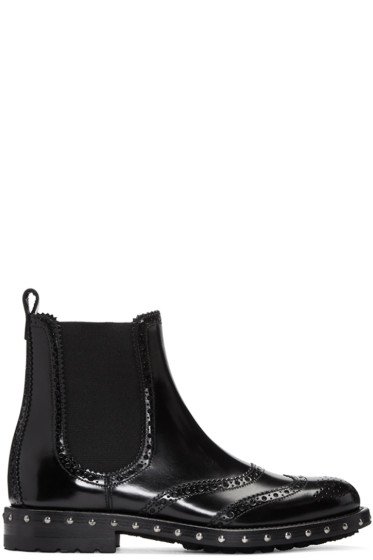 Dolce & Gabbana - Black Brogue Boots