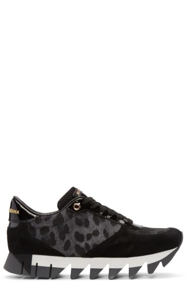 Dolce & Gabbana - Black Leopard Sneakers